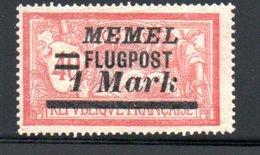 Memel /   Poste Aérienne / N 21 / 1 M  Sur 40 Ct Rouge  /  NEUF Avec Charnière - Memel (1920-1924)