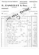 88 - Vosges - POUSSAY - Facture DANDELOT - Menuiserie, ébénisterie, Charpente - 1965 - REF 96D - Switzerland