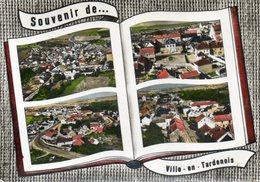 CPSM Dentelée - VILLE-en-TARDENOIS (51) - Carte De Multi-vues Aériennes Au Livre Ouvert , à L'album-photos - Années 60 - Autres Communes
