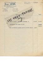 88 - Vosges - RUPT-SUR-MOSELLE - Facture GEHIN - Exploitations Forestières - Scierie - 1952 - REF 96D - Switzerland