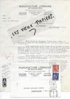88 - Vosges - ST-DIE - Facture MANUFACTURE DE LORRAINE DE BONNETERIE - 1941 - REF 96D - Switzerland