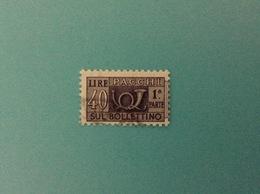 ITALIA PACCHI POSTALI 40 LIRE FILIGRANA STELLE USATO 1 PARTE STAMP USED - Pacchi Postali