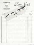88 - Vosges - SAULX-RUPT - Facture GEHIN - Commerce De Bois - 192? - REF 96D - Switzerland