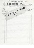 88 - Vosges - SAULX-RUPT - Facture GEHIN - Commerce De Bois - 190? - REF 96D - Switzerland