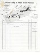 88 - Vosges - THAON-LES-VOSGES - Facture BERKROUBER - Fromages En Gros - Affinage - 1924 - REF 96D - Switzerland