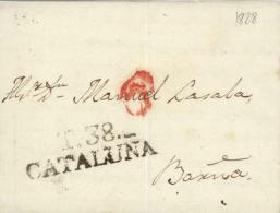 D.P. 5. 1828. CArta De Tàrrega A Barcelona. - ...-1850 Prefilatelia