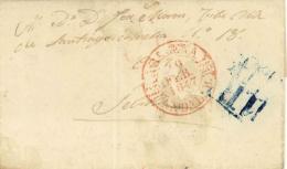 D.P. 25. 1847. Carta Circulada De Aracena A Sevilla. Preciosa. - España