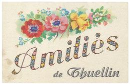 Cpa Fantaisie Amitiés De Thuellin, Isère - France