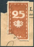 Russia Finland 1903 HÅA Steamship Co. 25 Penni Local Parcel Stamp Ship Mail Private Post Schiffspost Paketmarke Colis - Ships