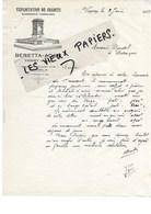 88 - Vosges - VAGNEY - Facture BERETTA-ADAM - Exploitation De Granits - 1933 - REF 96D - Switzerland