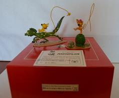 PIXI 4643 LA BATAILLE DES BEBES MARSU CHEVAUCHANT LES IGUANES NEUF DANS SA BOITE D'ORIGINE CERTIFICAT N°21/850 - Figurines