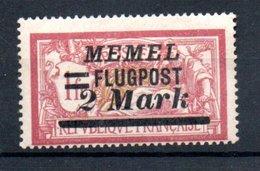 Memel /   Poste Aérienne / N 24 / 2 M Sur 1 F Rouge /  NEUF Avec Charnière - Memel (1920-1924)