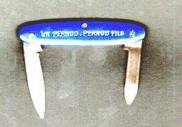 Couteau, Canif Publicitaire Pernod Fils,  Longueur 6 Cm - Couteaux