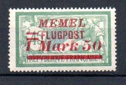 Memel /   Poste Aérienne / N 23 / 1 M 50  Sur 45 C Vert /  NEUF Avec Charnière - Memel (1920-1924)