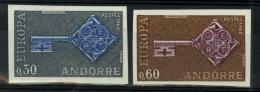 Andorra Francesa. ** 188/89s. Europa '68 Sin Dentar. Lujo. - Andorra Francesa
