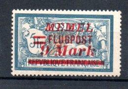 Memel /   Poste Aérienne / N 29 / 9 M  Sur 5 F Bleu /  NEUF Avec Charnière - Memel (1920-1924)