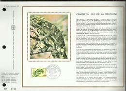 N° 184 DU CATALOGUE CEF . CAMELEON  . ( ÎLE DE LA REUNION ) . 06 NOVEMBRE 1971 . PARIS . - FDC