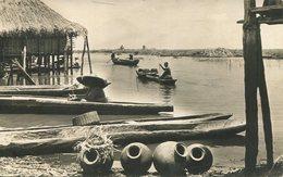 004414  Village Africain Au Bord De La Rivière  1962 - Kamerun