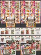Q569 !!! IMPERFORATE, PERFORATE 2012 BURUNDI SPORT LEGENDS MESSI DJOKOVIC CHESS ECHECS CARLSEN 12KB+2BL+10 LUX BL MNH - Timbres