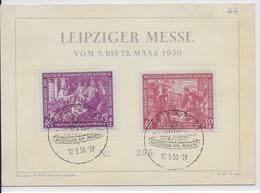 DDR - 1950 - YT N°1/2 Sur CARTE De La LEIPZIGER MESSE - DDR