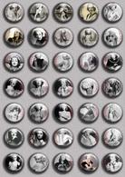 Joan Crawford Movie Film Fan ART BADGE BUTTON PIN SET  (1inch/25mm Diameter) 35 DIFF - Films