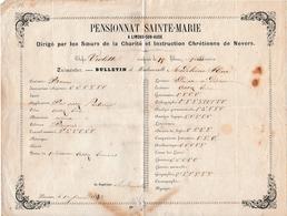 1862 - PENSIONNAT SAINTE-MARIE à LIMOUX-sur-AUDE - Sœurs De La Charité De Nevers - - Documents Historiques