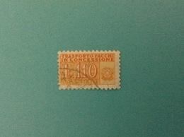 ITALIA PACCHI IN CONCESSIONE 110 LIRE FILIGRANA STELLE USATO FIGLIA STAMP USED - Pacchi Postali