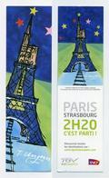Marque-page SNCF TGV Paris-Strasbourg En 2h20 - Illustration De Tomi Ungerer - Bookmark - MP - Bookmarks