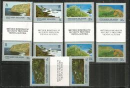 Paysages De L'île Pitcairn , 10 Timbres  Neufs ** Avec Bridge Central, Se-tenant - Pitcairn Islands