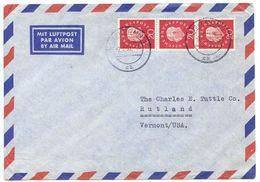 Germany, West 1960 Airmail Cover Bonn To U.S. W/ Scott 795, Strip Of 3 - Brieven En Documenten