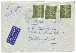 Germany, West 1960 Airmail Cover Freiburg To U.S. W/ Scott 814 Olympics - [7] West-Duitsland