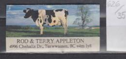 35K626 / Rod & Terry Appleton , 4996 Chehalis Drive, Delta BC V4M 1Y8 , CANADA ,  CINDERELLA LABEL VIGNETTE - Other