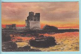 Castello Scogliera Tramonto (Sembra Un Acquarello) - Cartoline