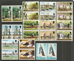Nouvelle Série Definitive 1977, Nr 161/71.   22 Timbres Neufs **  En Paire Se-tenant. , Côte 20,00  € EUR - Timbres