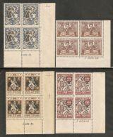 Ukraine SSR 1923 Mi# 67-70 A ** MNH - Set In Blocks Of 4 All With Marks On Margins: I.6114.22.  - Famine Relief Fund - Ukraine & West Ukraine