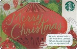 Malaysia Starbucks Card Merry Christmas 2017-6141 - Gift Cards