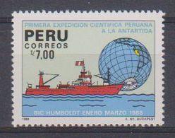 Peru 1988 1st Scientic Expedition In Antarctica 1v ** Mnh (39482) - Peru