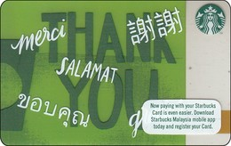 Malaysia Starbucks Card  Thank You 2017-6148 - Gift Cards