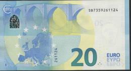 "EURO 20  ITALIA SB S018  ""35""  DRAGHI  UNC - EURO"