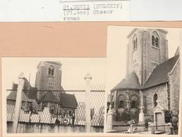Helchin - Helkijn , 2  Foto , Photo , De Kerk , L'église St Denis - Espierres-Helchin - Spiere-Helkijn