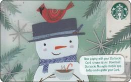 Malaysia  Starbucks Card Schneemann 2017-6141 - Gift Cards