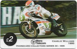 Isle Of Man - Chip - TT Racers 95 - Charlie Williams, 2£Mp, 1995, 5.000ex, Used - Isla De Man