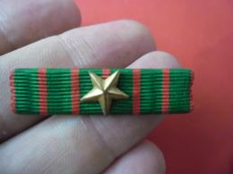 Rappel Médaille Militaire BARRETTE épinglette GUERRE 1914 1918 étoile De Vermeil : Citation à L'ordre Du Corps D'armée - 1914-18