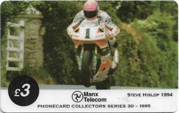 Isle Of Man - Chip - TT Racers 95 - Steve Hislop, 3£Mp, 1995, 5.000ex, Used - Isla De Man