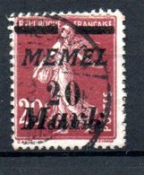 Memel /    N 80 / 20 M   Lilas Brun /  Oblitéré - Memel (1920-1924)