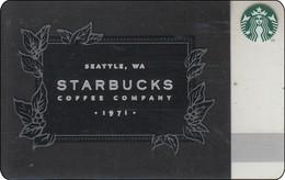 "Malaysia  Starbucks Card ""Starbucks Coffee Company"" 2016-6128 - Gift Cards"