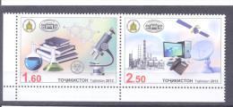 2013. Tajikistan, 20y Of Association Of Academies Of Scientist, 2v Perforated Se-tenat, Mint/** - Tajikistan