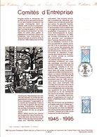 1995 DOCUMENT FDC 50 ANS DES COMITES D'ENTREPRISE - Documentos Del Correo