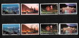 Hong Kong 1983 QEII Night Scenes, Complete Set MNH And Used (6702) - Hong Kong (...-1997)
