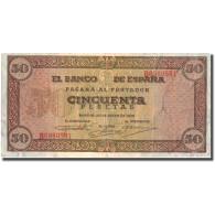 Billet, Espagne, 50 Pesetas, 1938, 1938-05-20, KM:112a, TTB - [ 3] 1936-1975 : Régence De Franco